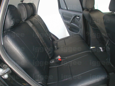 Mercedes benz ml 320 430 1998 2002 leather like seat cover for Seat covers mercedes benz