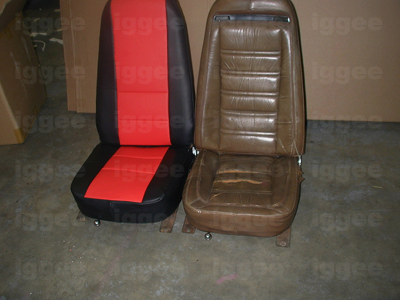 Coverking Seat Covers >> CHEVY CORVETTE C3 1968-1978 IGGEE S.LEATHER CUSTOM FIT SEAT COVER 13COLORS | eBay