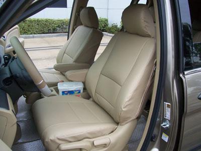 honda odyssey 2003 2009 leather like custom seat cover ebay. Black Bedroom Furniture Sets. Home Design Ideas