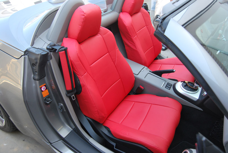 IGGEE SLEATHER CUSTOM FIT SEAT COVER FOR 2003 2014 NISSAN