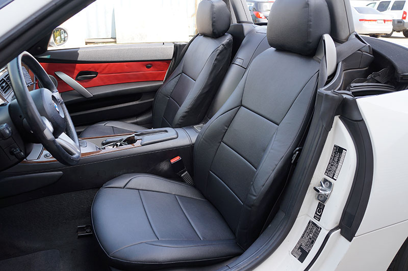 BMW Z4 2003 2008 IGGEE SLEATHER CUSTOM FIT SEAT COVER 13