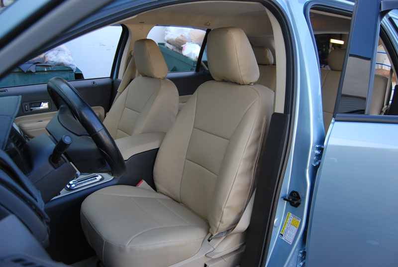 ford edge 2007 2010 iggee s leather custom seat cover 13colors available. Black Bedroom Furniture Sets. Home Design Ideas