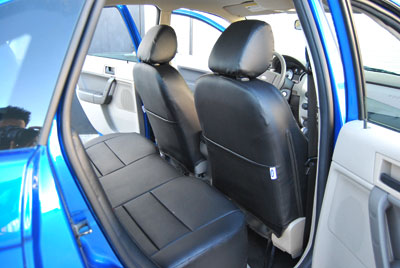 ford focus 2000 2008 leather like custom fit seat cover ebay. Black Bedroom Furniture Sets. Home Design Ideas
