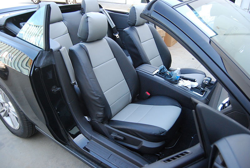 ford mustang 2005 2012 iggee s leather custom fit seat cover 13colors available ebay. Black Bedroom Furniture Sets. Home Design Ideas