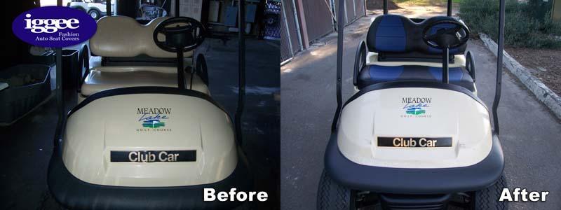 Yamaha Golf Cart Leather Like Custom Fit Seat Cover Ebay
