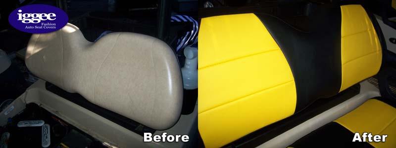 CLUB CAR GOLF CART VINYL CUSTOM SEAT COVER