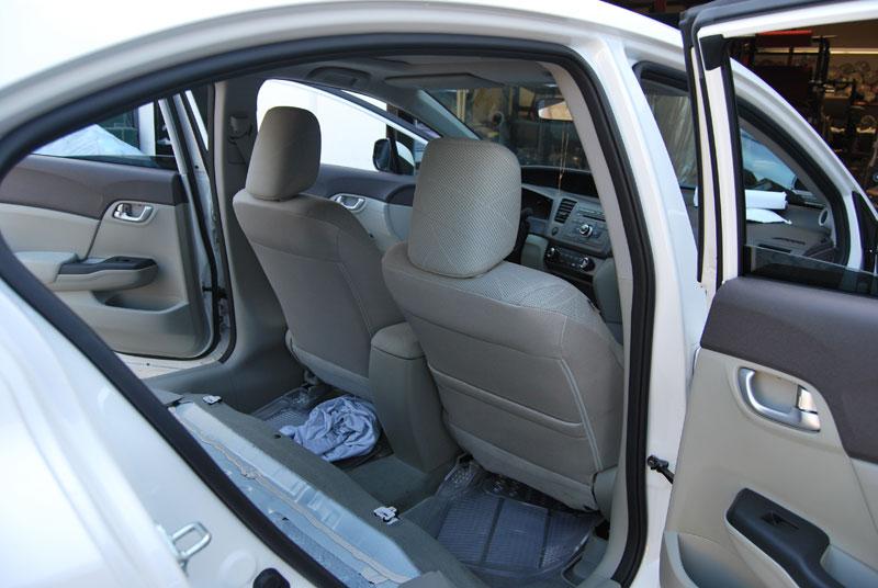 honda civic sedan   leather  custom seat cover ebay