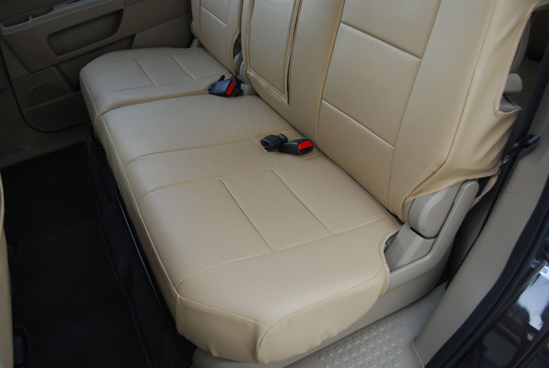 honda pilot 2013 2014 leather like custom seat cover ebay. Black Bedroom Furniture Sets. Home Design Ideas