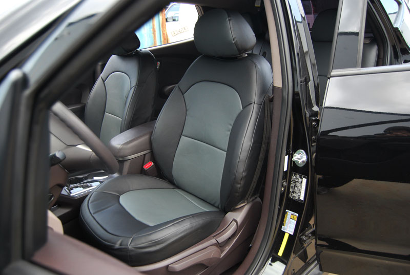 hyundai tucson 2010 2014 leather like custom fit seat cover. Black Bedroom Furniture Sets. Home Design Ideas