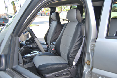 jeep liberty 2002 2013 leather like custom seat cover ebay. Black Bedroom Furniture Sets. Home Design Ideas