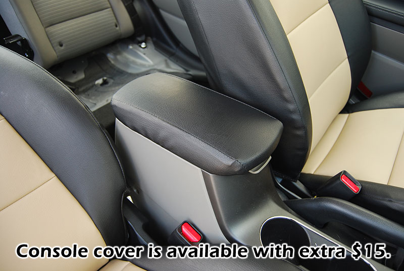 KIA FORTE 2010 2012 IGGEE SLEATHER CUSTOM FIT SEAT COVER