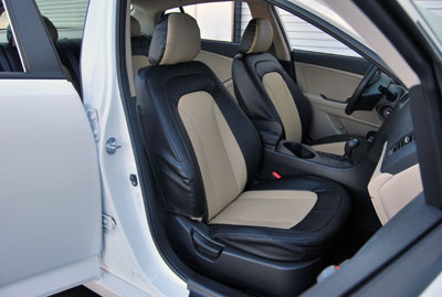 kia optima 2009 2012 s leather custom fit seat cover 13 colors available ebay. Black Bedroom Furniture Sets. Home Design Ideas