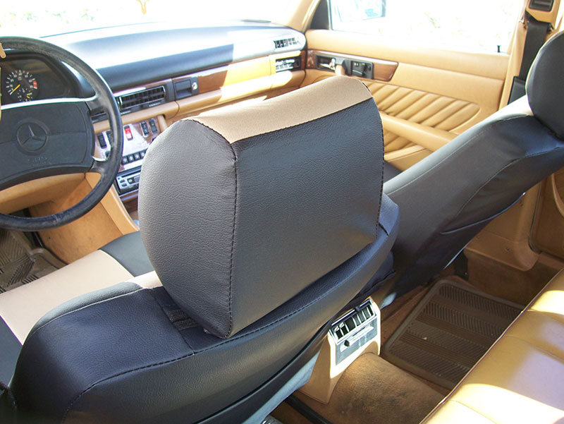 Mercedes benz 450 sl 1980 1989 iggee s leather custom seat for Mercedes benz replacement seat covers