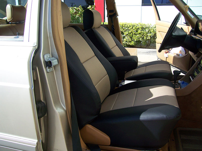 Mercedes benz 300se 1985 1991 iggee s leather custom seat for Seat covers mercedes benz