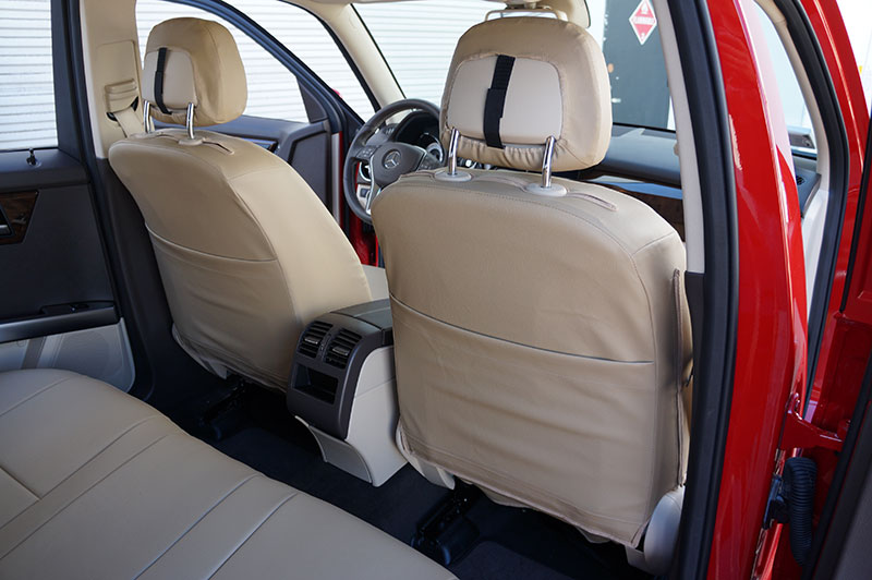 Mercedes benz glk 350 2011 2014 iggee s leather custom fit for Seat covers mercedes benz