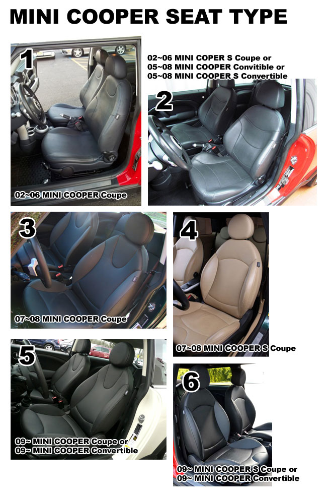 mini cooper cooper s coupe convitible leather like custom seat cover ebay. Black Bedroom Furniture Sets. Home Design Ideas