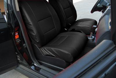 honda fit 2007 2010 leather like custom fit seat cover ebay. Black Bedroom Furniture Sets. Home Design Ideas