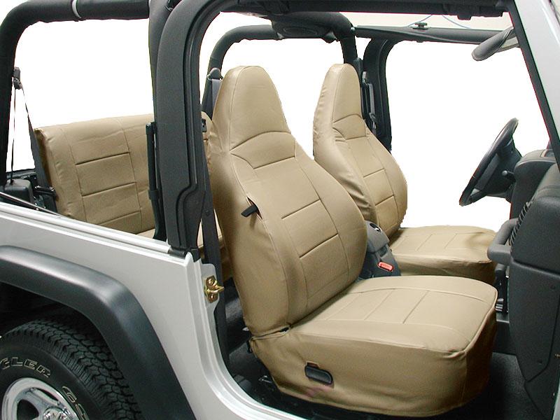 Jeep Wrangler Tj Sahara 1997 2002 Beige Iggee S Leather Seat Cover Ebay