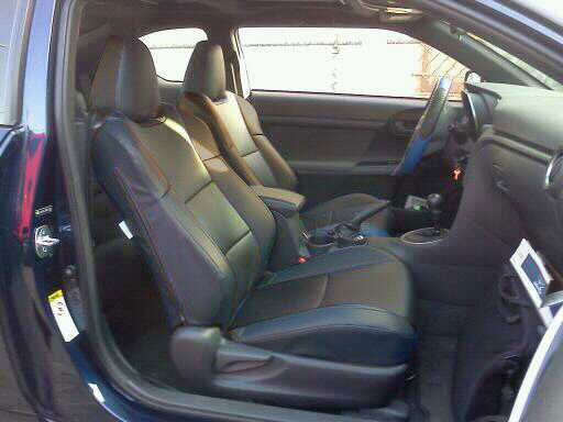 scion tc 2010 2011 leather like custom seat cover ebay. Black Bedroom Furniture Sets. Home Design Ideas