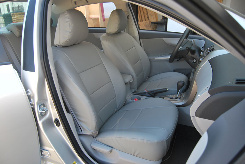 toyota corolla 2009 2012 leather like custom seat cover ebay. Black Bedroom Furniture Sets. Home Design Ideas