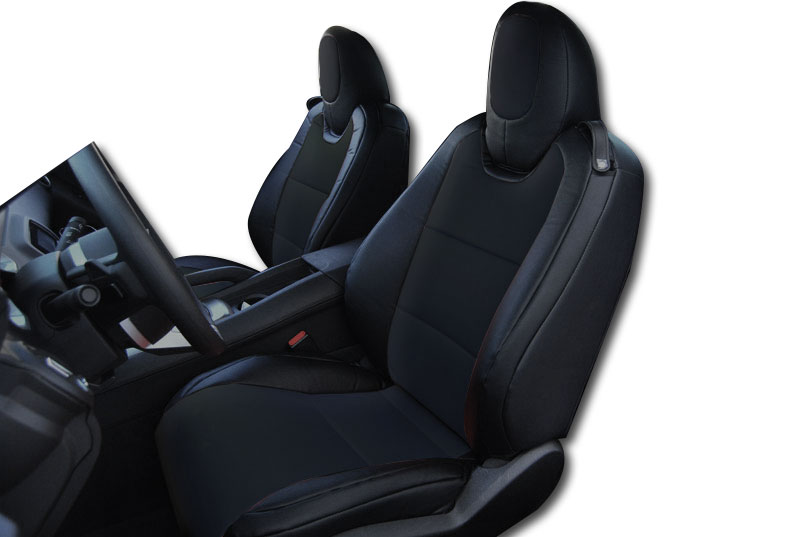 Chevy Camaro 2010 2013 Black s Leather Custom Fit Front Seat Cover